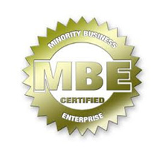 We are Minority Business Enterprise (MBE) Certified